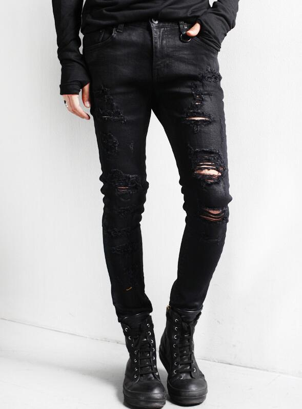 M--XXL Sell Like Hot Cakes 2020 Spring Male Men's Fashion Cultivate One's Morality Leisure Knee Hole Joker Jeans