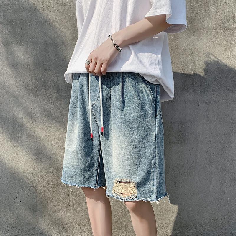Perth kot Dokuz dokuz Şort ayak bileği uzunlukta şort erkekler 2020 Yaz yeni gevşek düz kırpılmış pantolon gençlik moda Kore tarzı pantolon