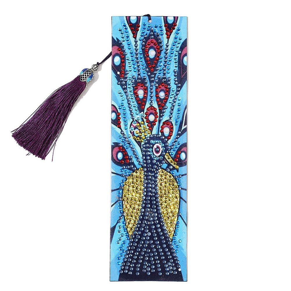 5D bricolage livre mosaïque diamant peint Bookmark motif fleur ARTISANALMENT Tassel