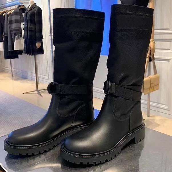 Designer donne di lusso Martin Boots-alto livello di moda Desert Boot punta rotonda piatto del tacco autunno e l'inverno della neve Boot formato 35-40 con la scatola