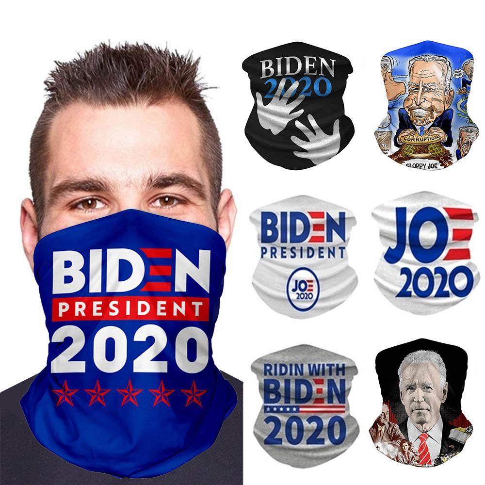 Tubo máscaras del partido Elección Trump VS Biden Función bufanda Multi Protección Solar Polvo manera imprimió la bufanda unisex lavable mágica del pañuelo DWF644