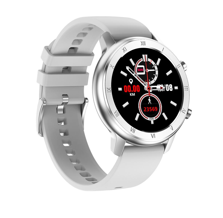Kadınlar Moda DT89 Smartwatch 2020 Paslanmaz Çelik Kayış Şık Bayanlar Relojes Nabız EKG Kadın Sağlığı Akıllı İzle