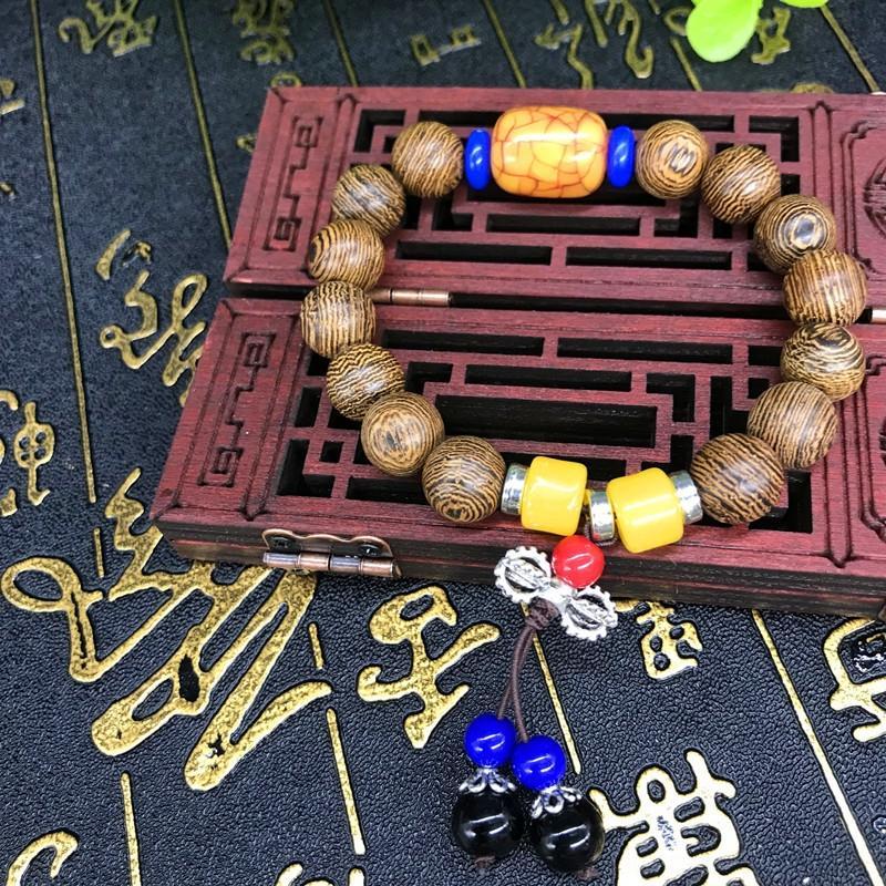 Novas madeira madeira asa de galinha contas Buddha pulseira naturais contas de círculo único nó Rosário do diamante DIKeB pulseira de homens e mulheres