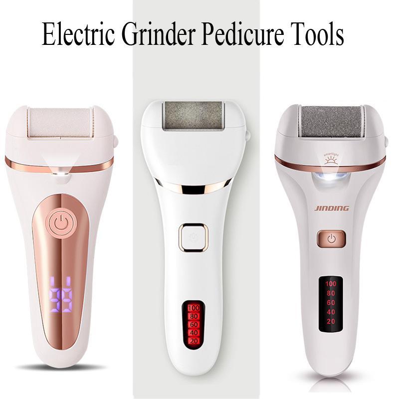 Vattentät elektrisk fotfil Callus Remover Hard Cracked Dead Skin Grinder Pedicure Tools Feet Care Rechargeable USB 1200mAh Heel Slipning