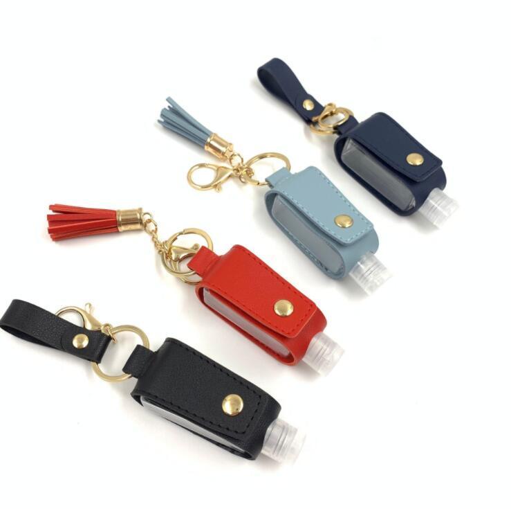 ومن ناحية المطهر زجاجة حالة PU جلدية الشرابة حامل سلسلة المفاتيح كيرينغ بروتابلي التخزين غطاء أكياس التخزين الرئيسية حقيبة دون LSK923 زجاجة