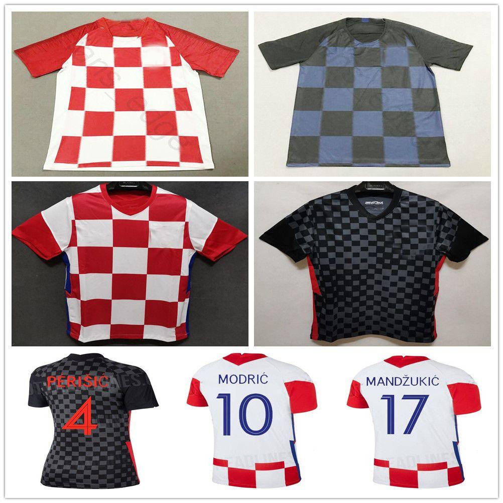 2020 MANDZUKIC Soccer Jerseys 10 MODRIC 7 RAKITIC 4 PERISIC SRNA KRAMARIC Custom Home Away 19 20 Adult and Kids Football Shirt