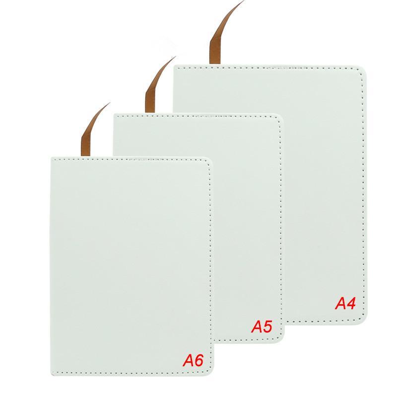 التسامي دفتر A4 A5 A6 DIY دفتر فارغة مخصصة فو الجلود دفاتر نقل الحرارة الطباعة A12