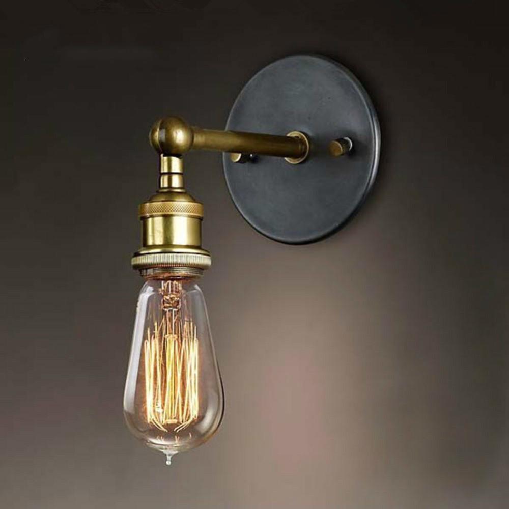 실내 장식을 살고 빈티지 산업 스타일의 벽 램프 상점 인테리어 침실 욕실 발코니 바 통로 조명