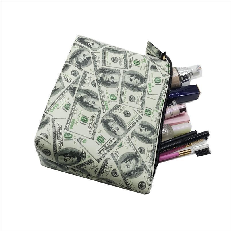 2018 Dollaro modo delle donne di viaggio impermeabile di trucco caso cosmetico borse professionali Organizzatore della frizione della borsa di alta capacità borsa
