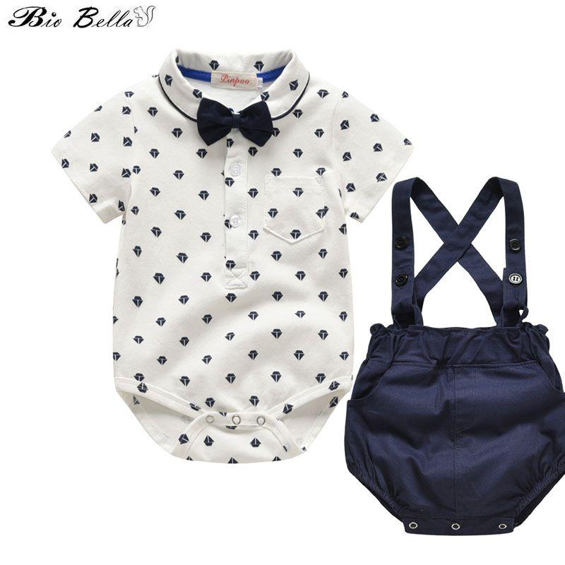 Infante appena nato di estate dei ragazzi vestiti set 100% del partito Cotone Moda Primo compleanno Suit Abbigliamento per bambini Corredo costume 0-24M