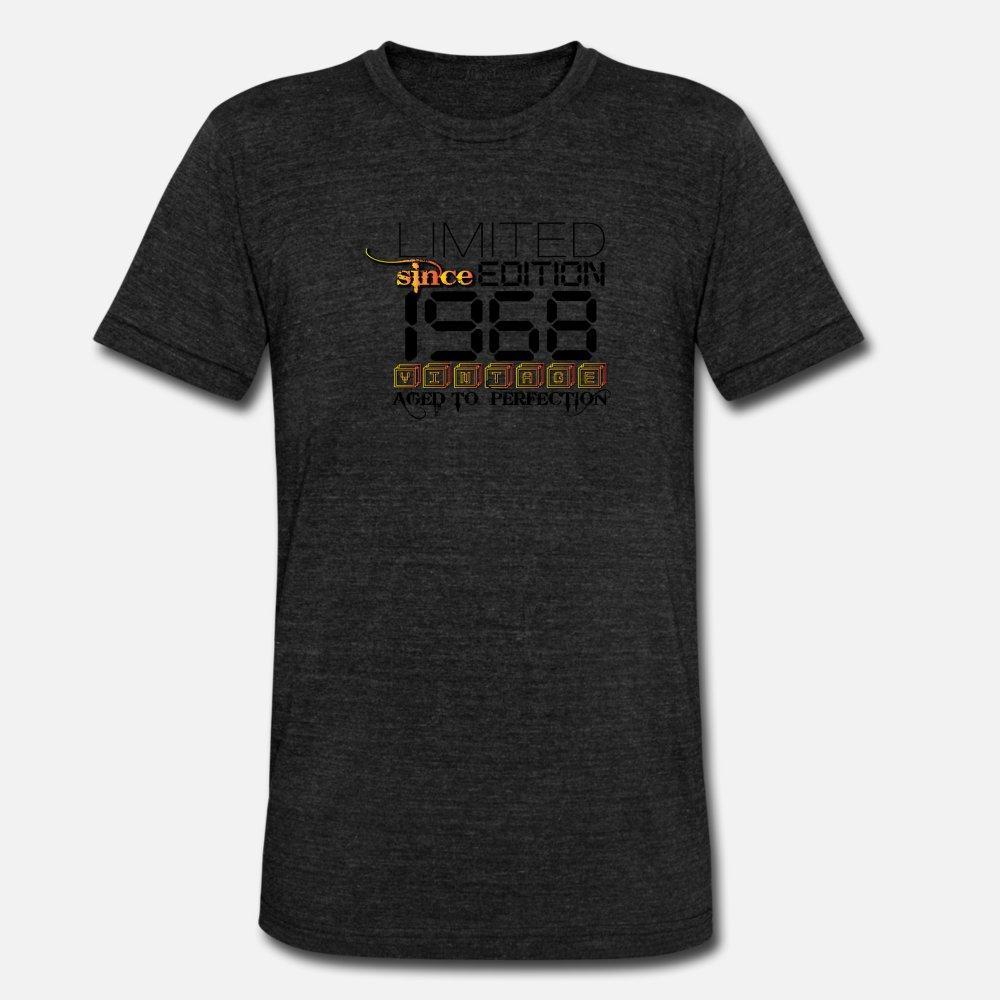 Limited Edition 1968 uomini della maglietta personalizzata manica corta rotonda Collare Kawaii luce solare camicia traspirante estate Stile originale