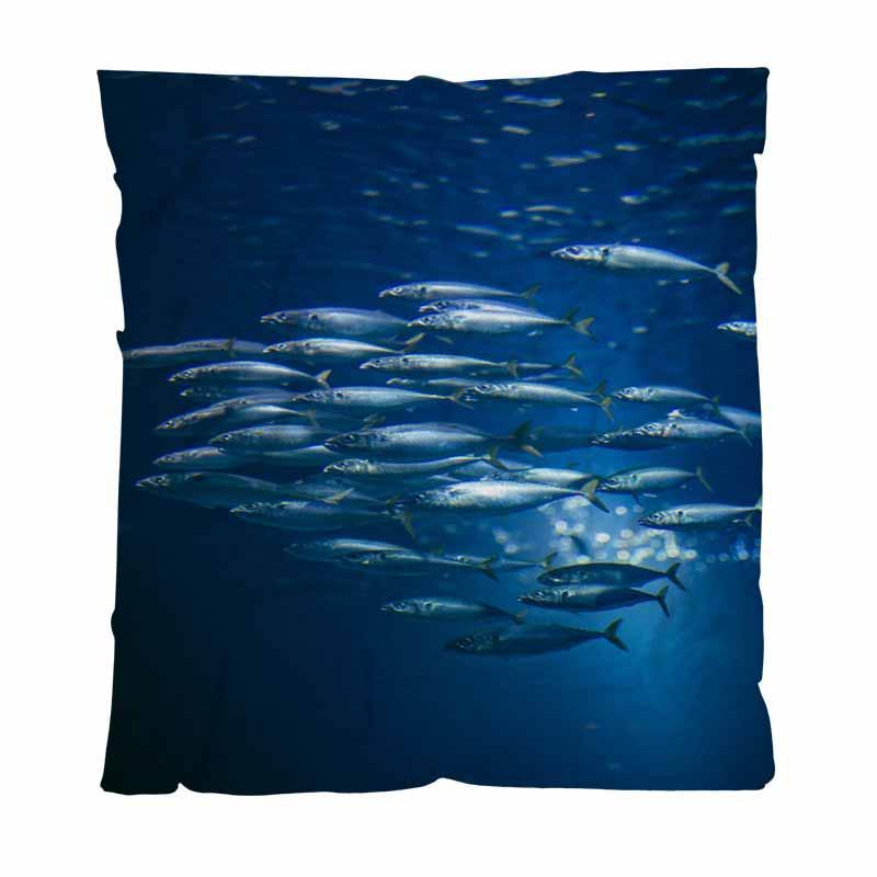 Peixe Melhor Quailty Blanket Blanket Throw, água cheia de peixe, All Season flanela cobertor perfeito para Couch sofá ou cama