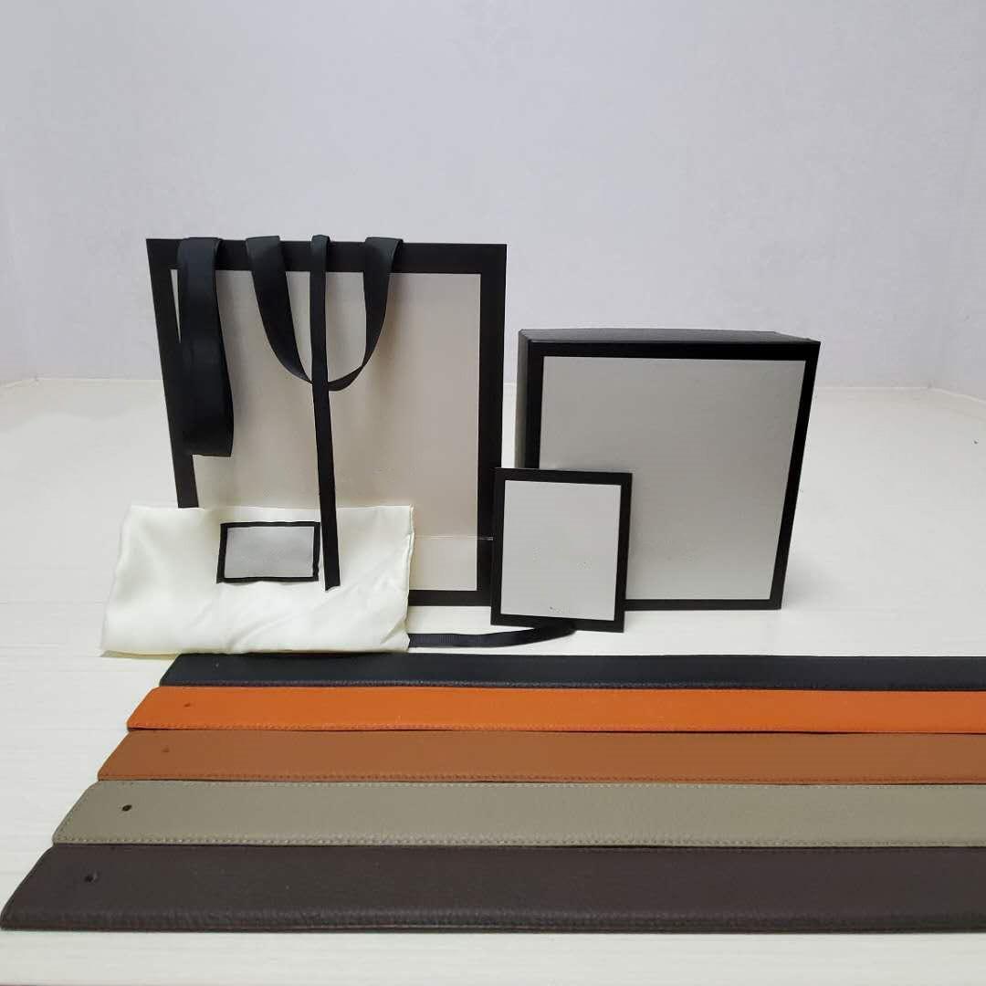 Reversibile Buckle Man Belt Cintura Donna cinture moda Larghezza 3,4 centimetri 3,8 centimetri opzionale 5 colori bovina di alta qualità con scatola regalo