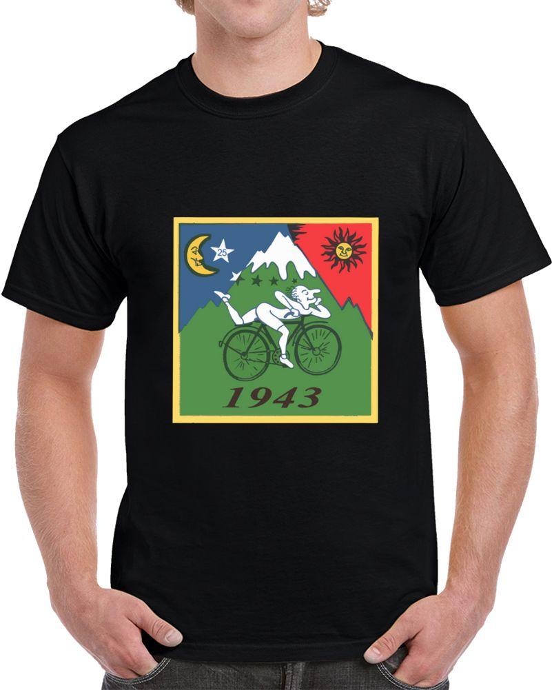 Мужчины тенниски велосипеды День футболки - 1943 Vintage (альберт Hofmann Lsd) Футболка тенниски женщин тенниски
