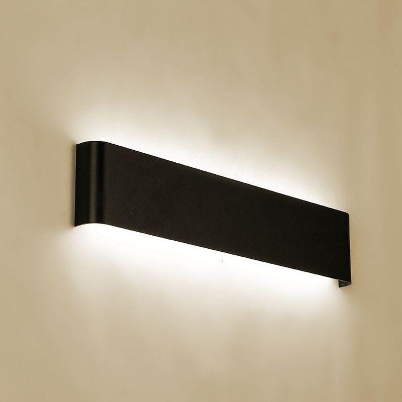 Moderna lampada da parete in alluminio a LED minimalista bianco nero argento up down lampada da parete camera lampada da comodino specchio da bagno luce AISL creativa diretta