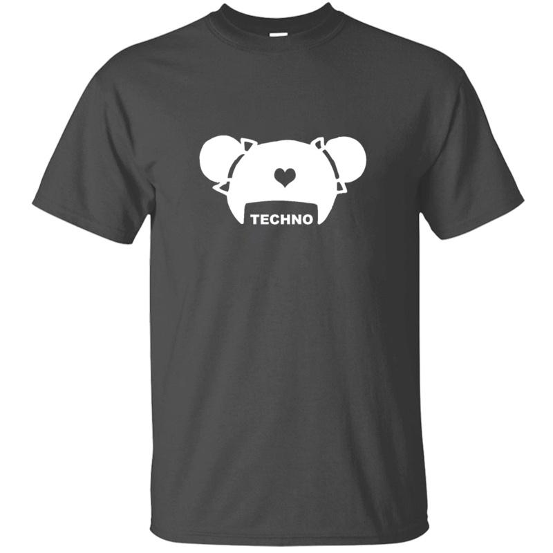 Настройка Designs Techno волос T Shirt For Mens хлопок Мило Crew Neck Сплошной цвет Высокий Adult футболках Pop Top Tee