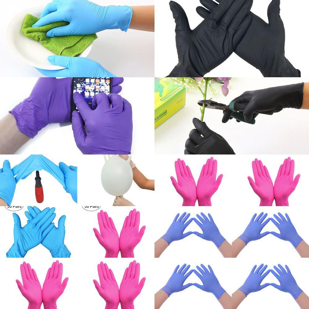 Su geçirmez Hızlı Teslimat Eldiven Sınav Tek kullanımlık eldiven ambidextrous İçin Ev Eldiven hi GQI11 Nitril