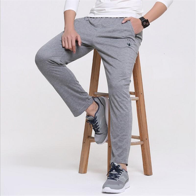 Pantalons simple pantalon garçon Mode 2020 automne mâle bon marché de la santé droite hommes nouveaux pantalons de survêtement Mens taille plus 4XL 5XL 6XL