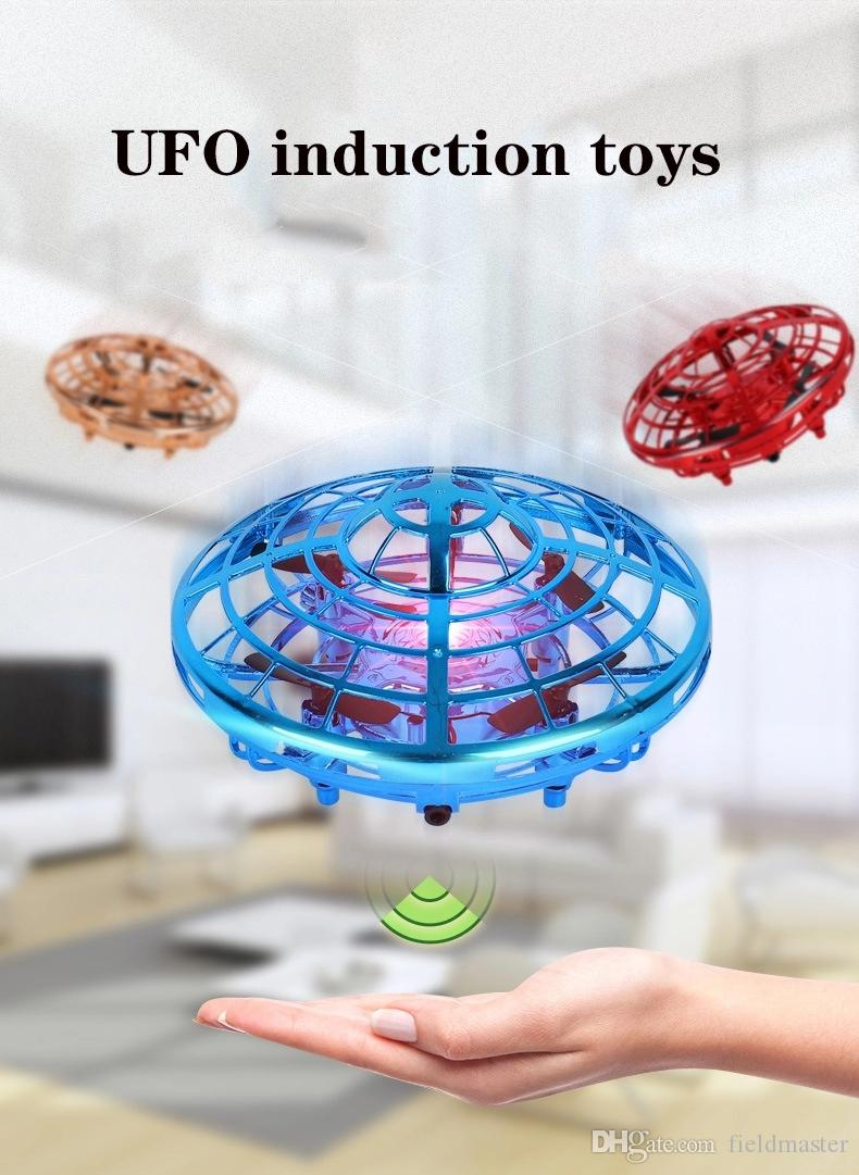 يد تعمل البسيطة الطائرة بدون طيار للأطفال الصغار للأطفال الكبار - الذاتي الطائر UFO التفاعلية الطائرات سهل داخلي الطائر الكرة التعريفي كوادكوبتر ألعاب و