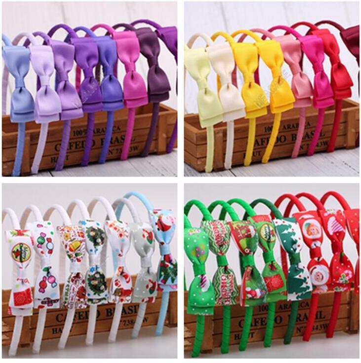 Baby Hair Clip Girls Bowknot Hairpin Headbands merry christmas Children Hair Hoop Hair Clasp Hairband Head Wraps Head Accessories D82710