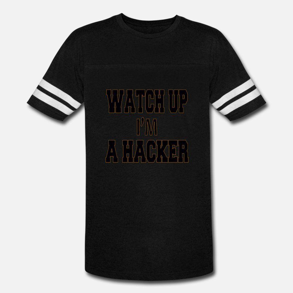 camisa de reloj hasta que un hacker M hombres de la camiseta de manga corta de Personalizar S-XXXL de la ropa cabida cómico de verano único