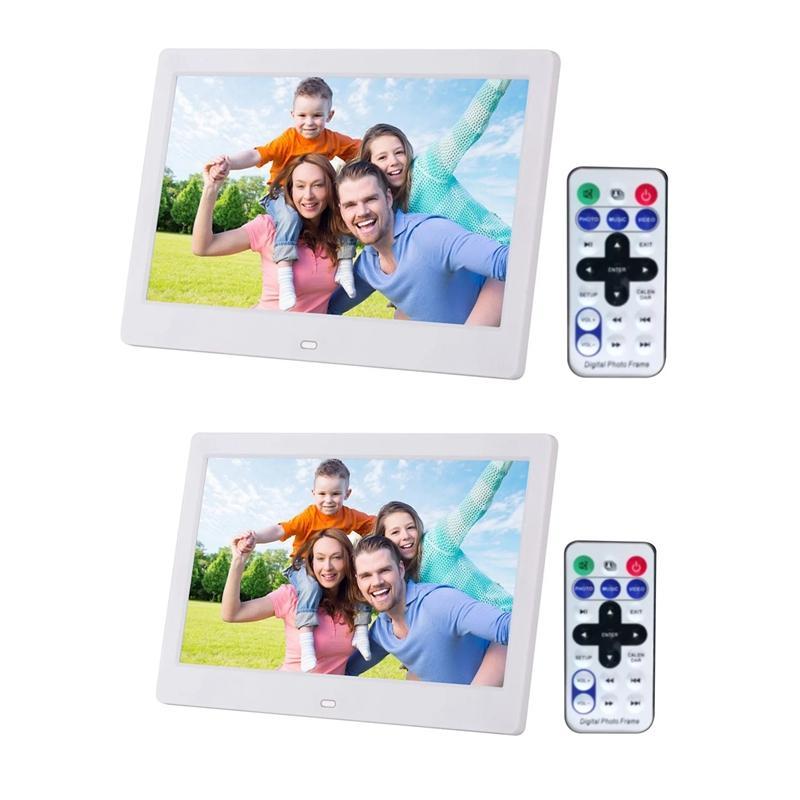 10.1 inç High Definition 1280x800 Tam Fonksiyon Dijital Fotoğraf Çerçevesi Elektronik Resim Müzik Video Beyaz