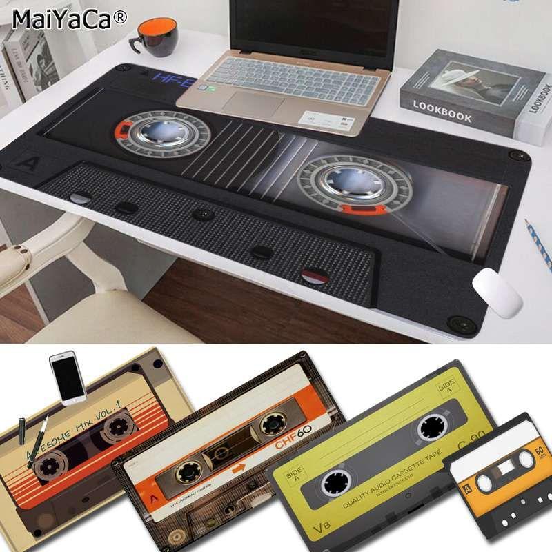 MaiYaCa Custom Skin Schwarz-Tape Büro Mäuse Gamer weiche Mausunterlage Freies Verschiffen-große Mausunterlage Keyboards Mat