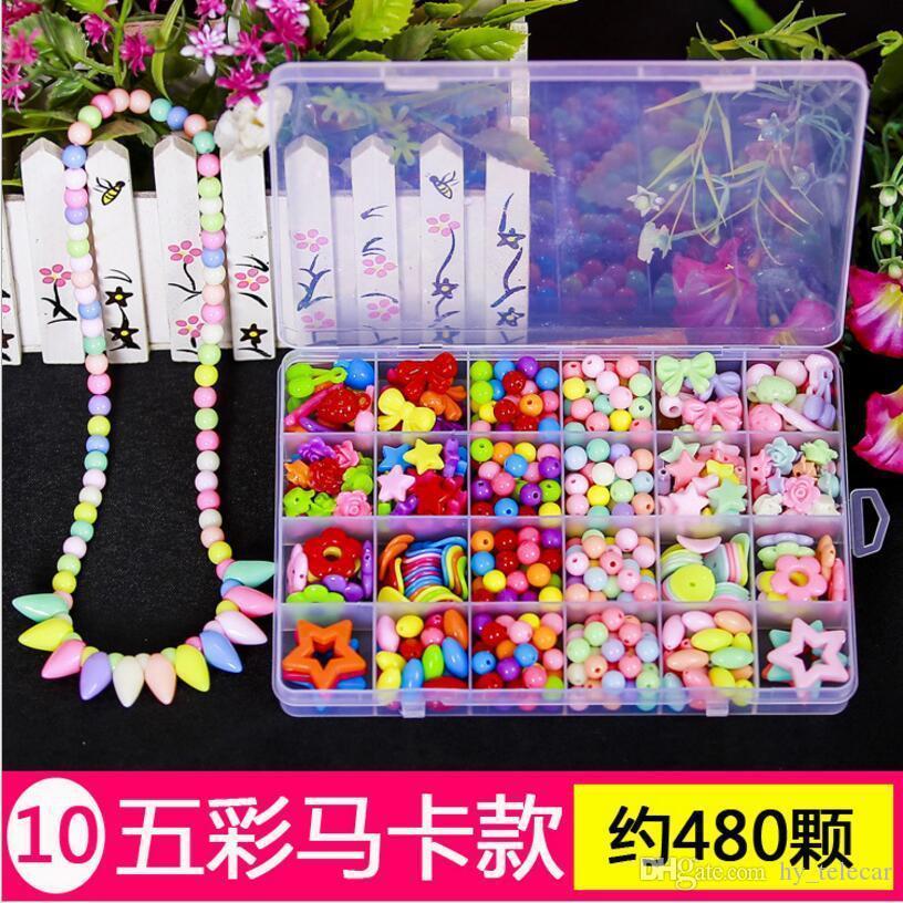 الأطفال الذكي 12 حجم 24 حالات DIY الأطفال مطرز حلوى حلوى قلادة ساحرة مطرز لعبة طفل هدية