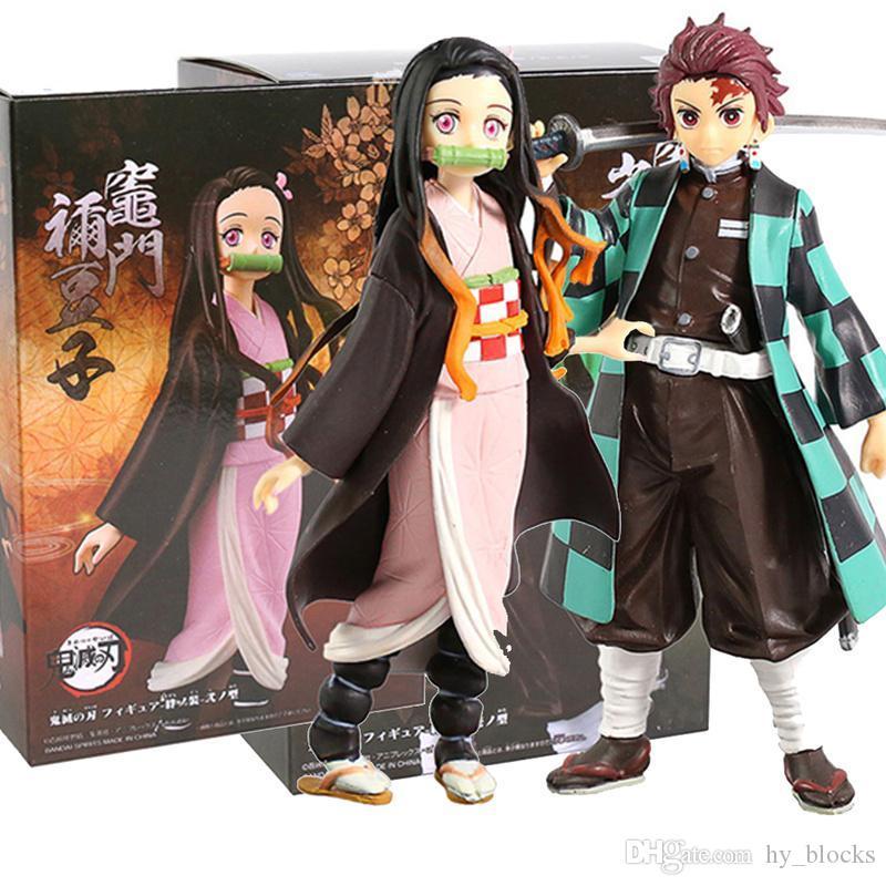 16 cm azione no inosuke kimetsu nezuko yaiba figura regali anime figure demoni tanjirou bambini collezione in pvc modello giocattolo giocattoli giocattoli slayer fexuo