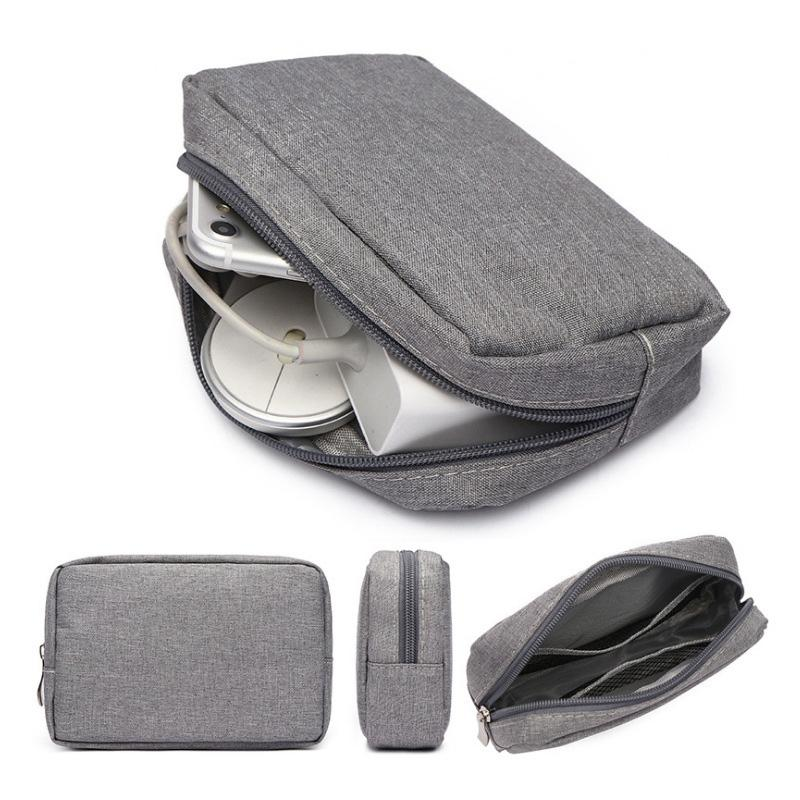 Closet Organizer caso portatile per le cuffie Accessori Digital Cable Bag di archiviazione USB del caricatore di dati Zipper pacchetto di viaggio Sack