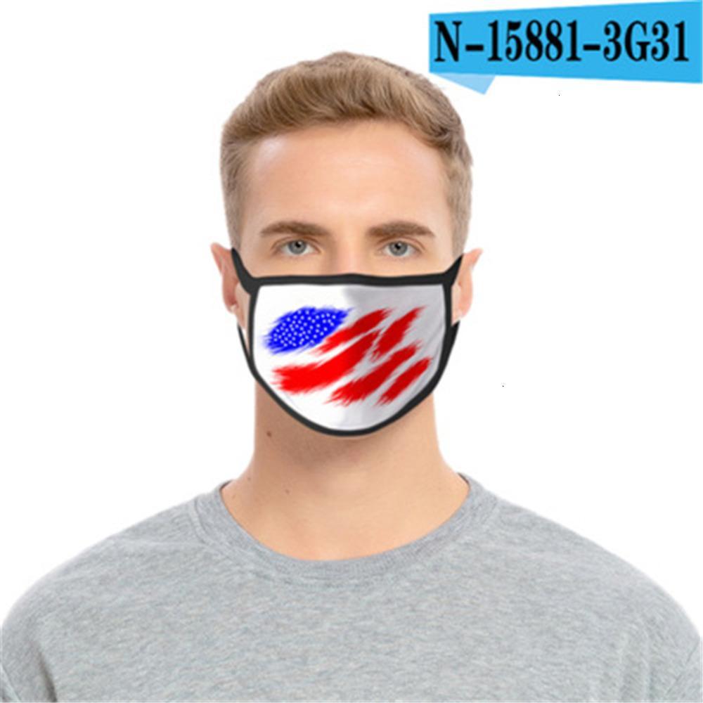 Cartoon Mask America del Stampato Trump Faccia riutilizzabili Usa Flag 3D con stampa leopardata antipolvere lavabile Ou0XGFRO3G