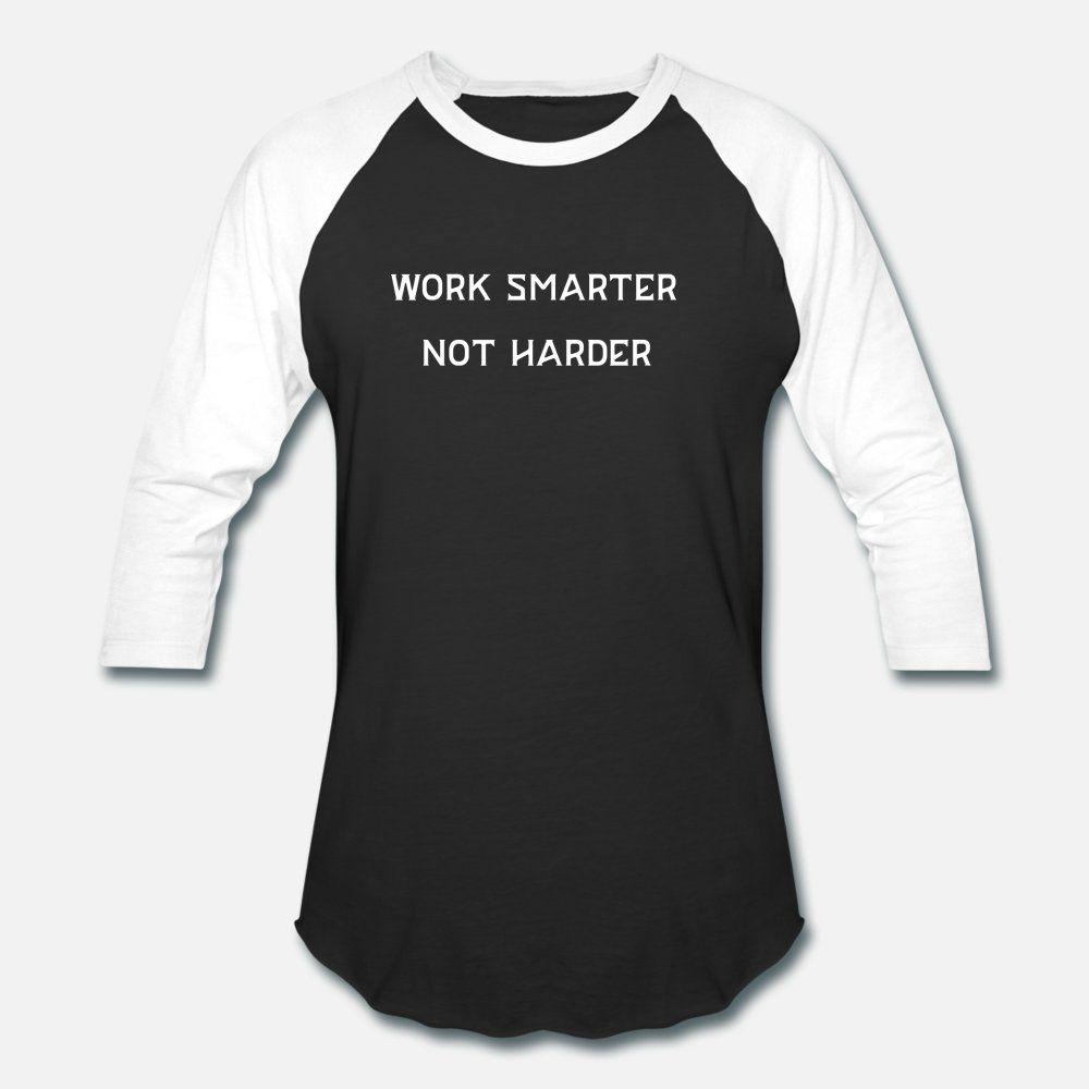 Çalışma Akıllı Değil Harder Beyaz Baskı t shirt erkek Özel tişört S-XXXL Aile Gevşek Bina Bahar Doğal gömlek