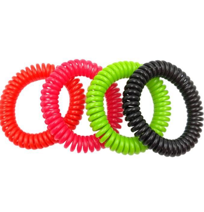 Anti anti-moustique Bracelet en silicone bracelet multicolore Bracelets Insecticide Protection contre les insectes Camping Outdoor de GGA3482