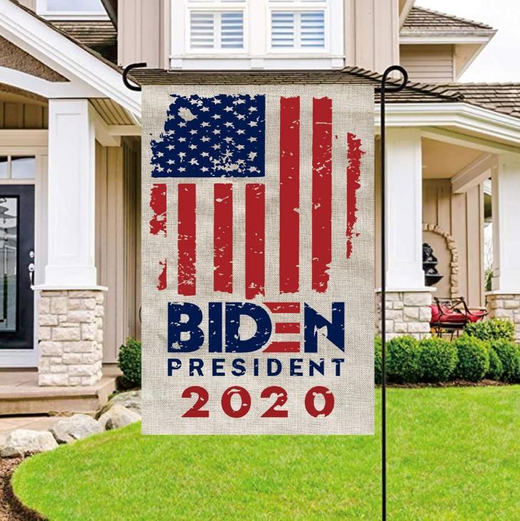أعلام جو بايدن 30 * 45CM الاحتفاظ أمريكا العظمى دونالد للرئيس حملة راية بايدن 2020 قطار حديقة أعلام شحن مجاني