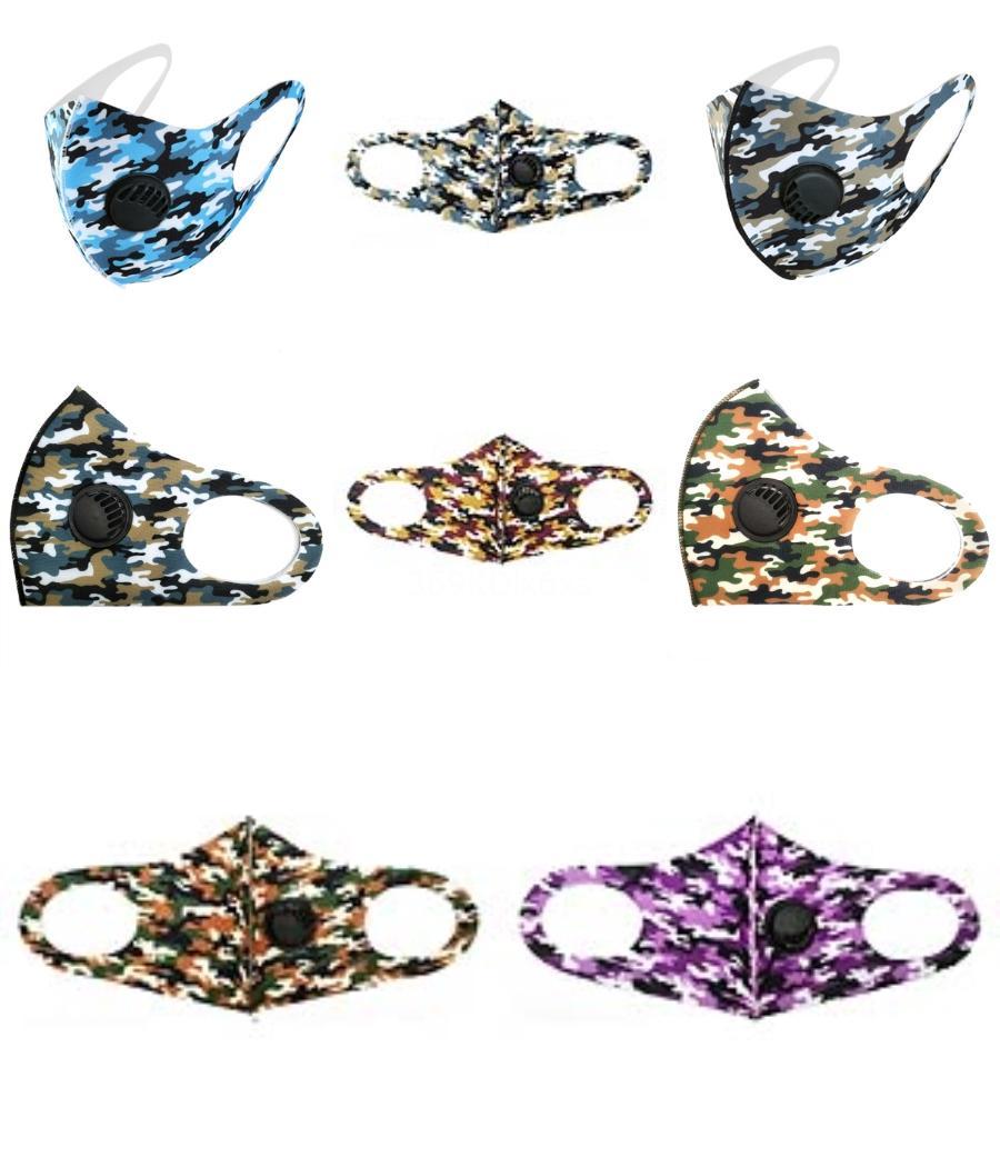 Máscara Unisex Boca Rosto Máscaras Respiradores Anti Gota segurança ao ar livre Net lavável reutilizáveis em estoque 2 7JH UU # 347