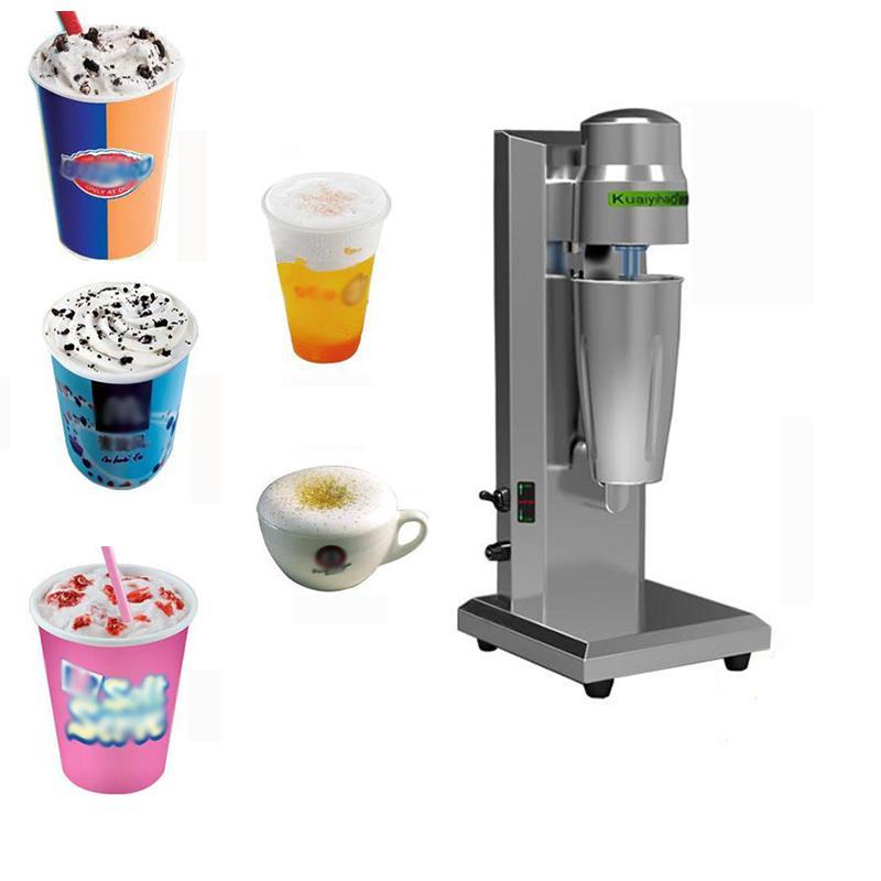 Kahve Süt Shaker Elektrik Milkshake Blender Süt Sallamak Mikser Dondurma Makinesi Elektrikli Mikser Kabarcık Makinesi Ticari