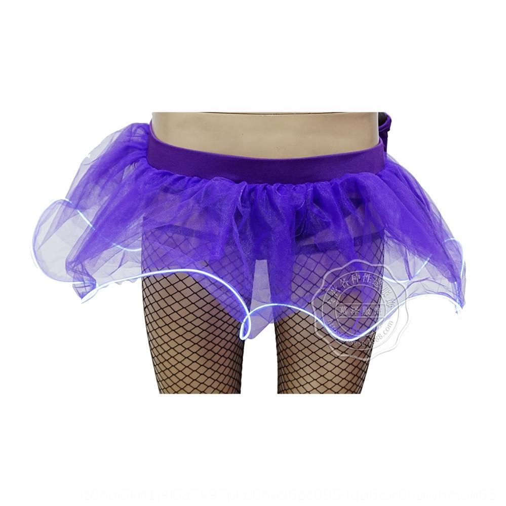 vyx5D z77Yk СИД светящего многоцветный мерцающий светящимся Pengpeng сексуальной Luminous короткого этап Пушистые пушистой юбка Carnival Pengpeng юбка perfor
