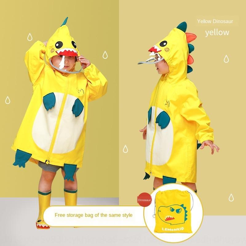 wgwq4 h48K5 dinossauro Manto gearcoat escola primária e meio boys' engrenagem das crianças meninas lona jardim de infância capa de chuva do bebê Chuva Criança