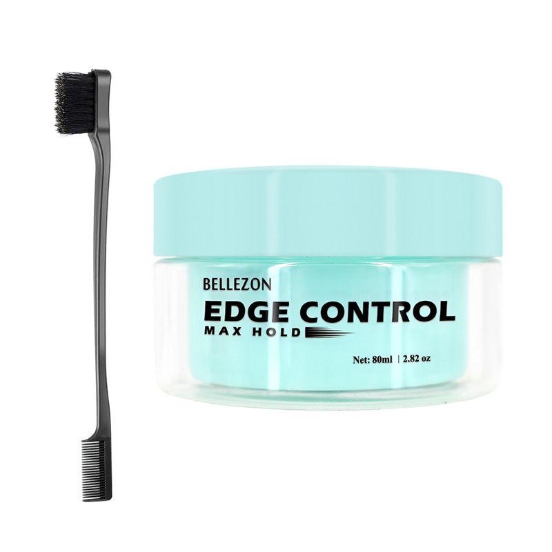 Fijo aceite del pelo Cera Crema Edge Hair Control Crema Estilo rápido el pelo Acabado Crema de larga duración Broken Incluye cepillo