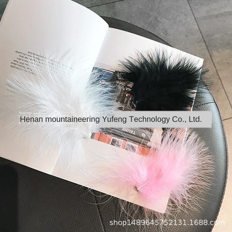 Internet Celebrity leggiadramente eccellente piuma perla bianca tornante ins matrimonio peloso Diy Wedding copricapo diy della foto copricapo parte coreana clip di XYR7