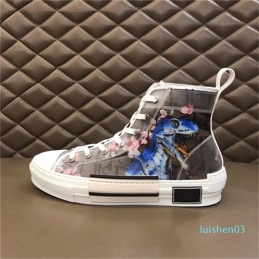 2020 Flowers Oblique Tela B23 B23 B24 Bassa Alto-Top Sneaker casual Oblique qualità degli addestratori delle donne Mens scarpe alte libero shipping21 L03