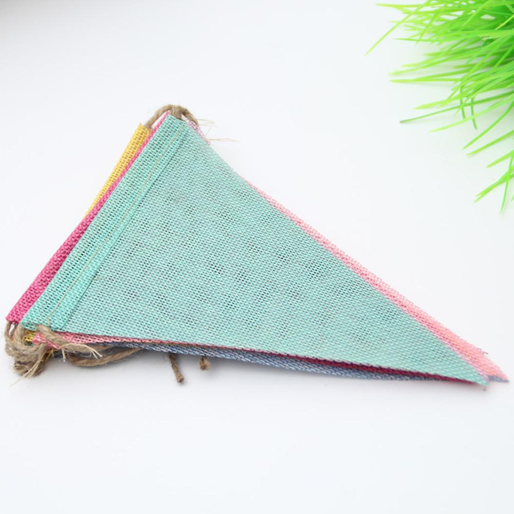 Wedding Party Flag Tecido DIY decorativa Handmade Triângulo Bandeira aniversário