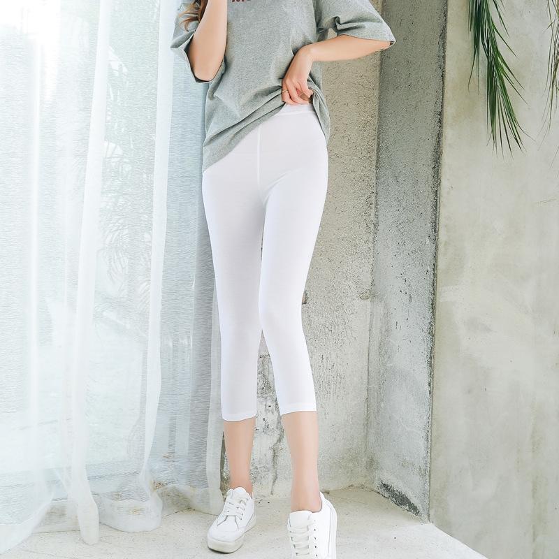 Frauen beschnitten Leggings 95% Modal abspecken feste Hosen keine engen Hosen keine Verformung äußere Abnutzung sicher Gamaschen Pilling