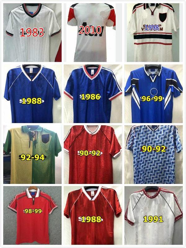 Robson Hughes McClair Retro Manchester 1990 1992 Birleşik Futbol Gömlek 90 92 Vintage Futbol Formaları Adam Utd Camiseta Sharpe Paul Ince
