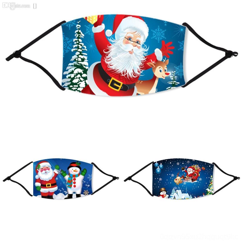 OpiLa Gesicht Weihnachten Mode Masken Printed Weihnachtsweihnachtsversandweihnachtsmann-Masken-Antistaub-Schneeflocke Abdeckung Mund Weihnachten WashableMasks