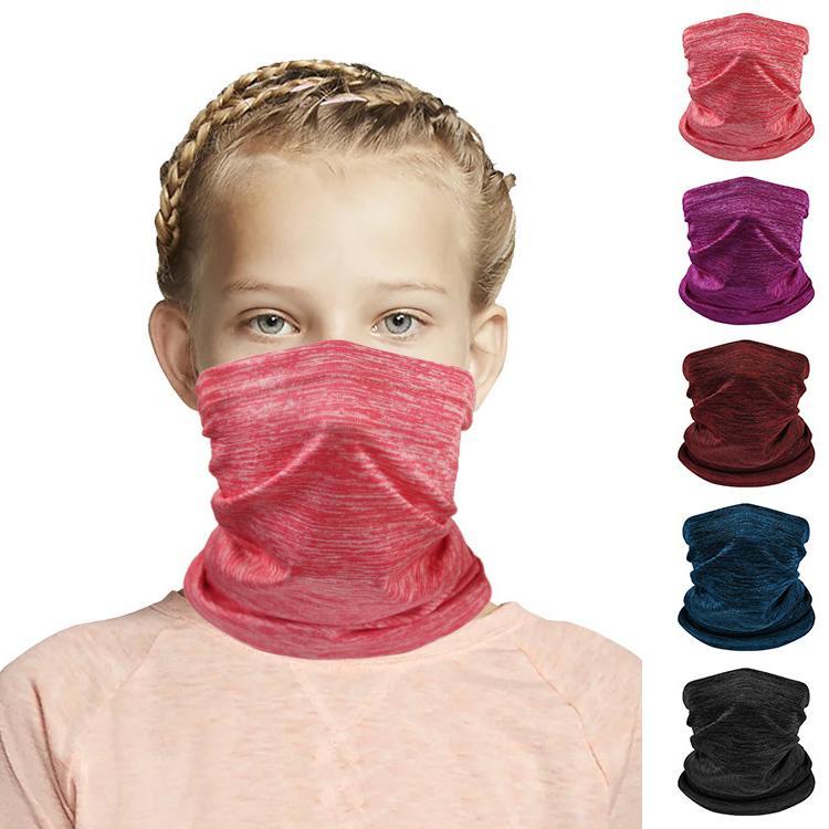Hiver chaud Bandana foulard pour les enfants Turban Couvre-chef Thicken Neck Gaiter de protection pour écran facial Sports de plein air Ski YAY43 Foulard