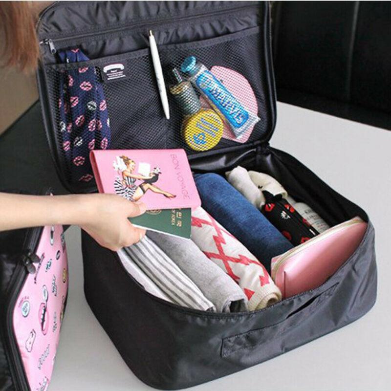 Grande sacchetto dell'estetica di trucco di caso Hang Viaggi Wash toeletta dell'organizzatore di immagazzinaggio del sacchetto di sacchetti cosmetici articoli da toilette Viaggi Wash cassa della borsa