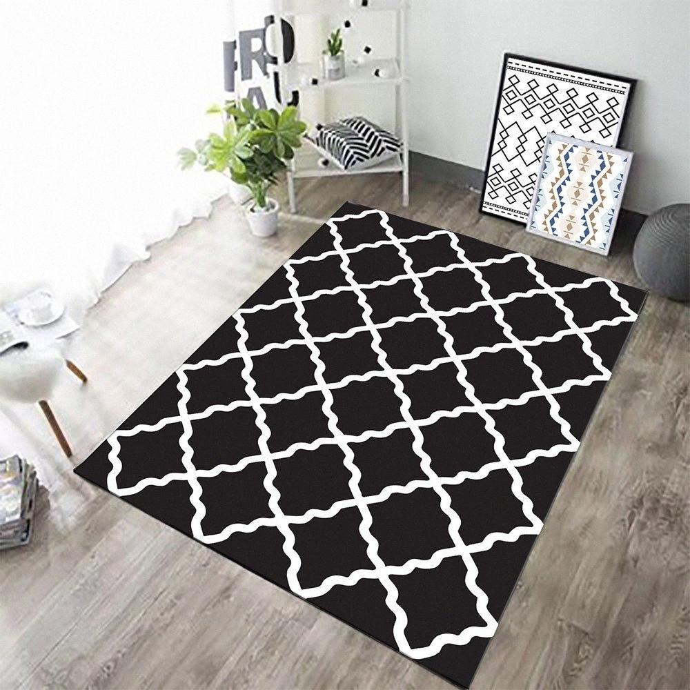 Dos geométrica tamaño de la puerta Mat alfombras para la sala de estar Soft Anti Slip de baño de poliéster que absorbe agua Inicio Alfombra nórdica estilo NRRP #