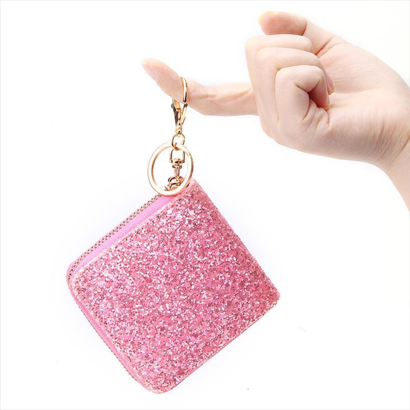 Purse Short Womens Rainbow Bling Zipper Cash Coin Purse Mini Casual Clutch Small Bag Bling Glitter Wallet Ladies Jbvsl