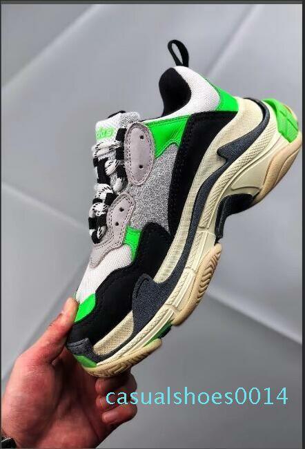 sandali ortopedici comfortab linea basket Designer Sneakers Parigi 17FW Triple-S papà scarpe ricamate Schuhe Spesso piattaforma Strato C14
